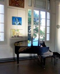 """deux tableaux d'Anastasia Zoé Souliotou , l'un pour Maria Callas, l'autre pour le concert """"Smyrne-Athènes-Paris"""""""