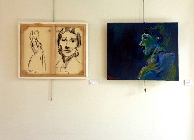 Anastasia Zoé Souliotou, Deux portraits de Maria Callas, juin 2014, Fondation Hellénique, Paris