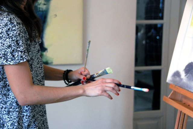 Anastasia Zoé Souliotou, Performance plastique à la Fondation Hellénique, samedi 14 juin 2014
