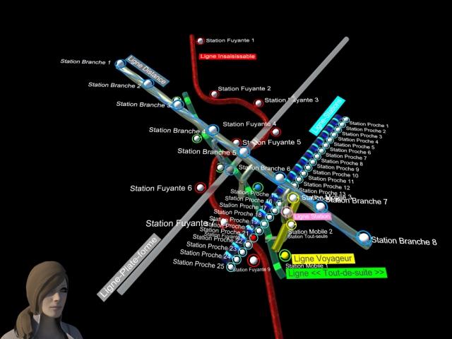 """Carte du métro """"Lignes Imaginaires"""""""